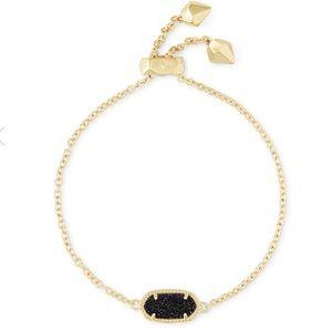Kendra Scott Elaina Gold Bracelet In Black Drusy